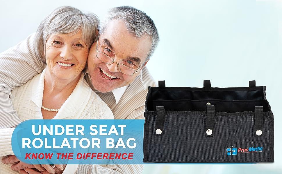PracMedic Bags Underseat Rollator Bag for Four Wheel Walker