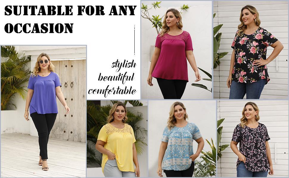 women plus size blouse