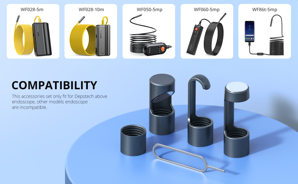 accessories compatible with the Endoscopes