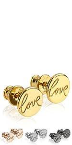 Ohrstecker LOVE Gold