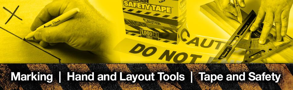 Marking Hand and Layout Tools Tape and Security