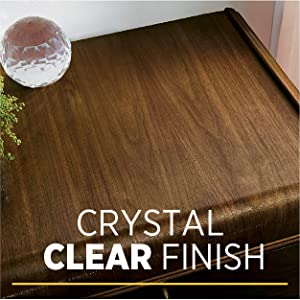 Crystal clear finish