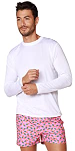Mens UPF 50 Sun Protection Apparel - Outdoor Long Sleeve Sports Performance Shirt for Hiking Running