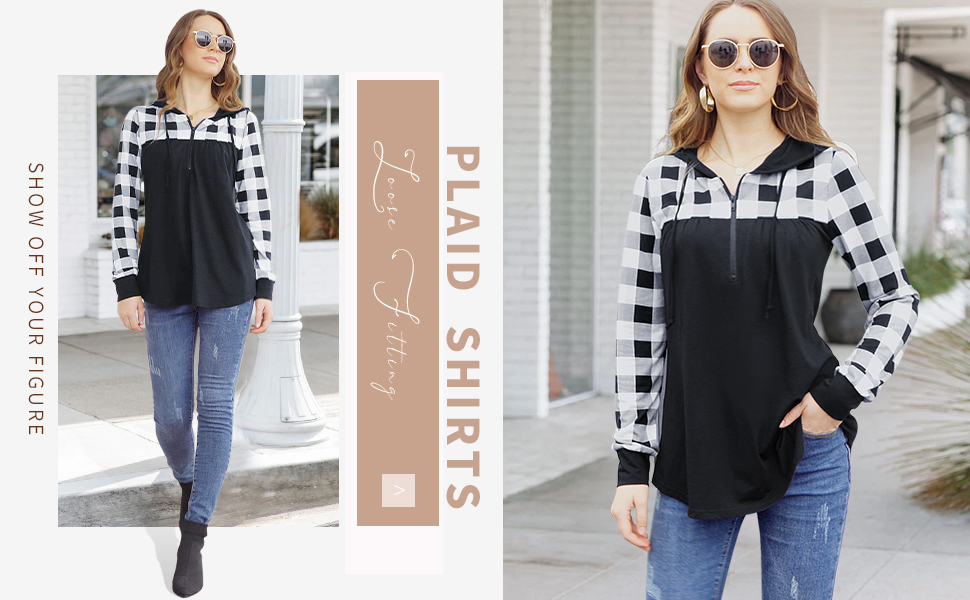 plaid shirts for women long sleeve