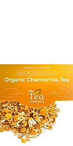 Organic Chamomile Tea Loose Leaf Herbal Bedtime Relaxation Calming