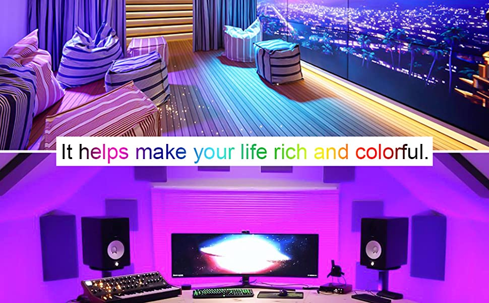 THBOR 32.8ft LED Strip Lights bring your visual feast !