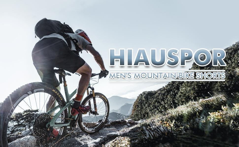 Hiauspor mens mountain bike shorts
