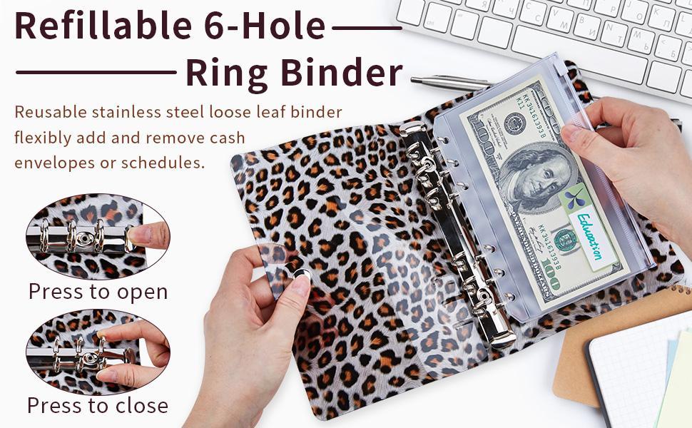 budget binder cash envelope binder cash organizer money organizer for cash zipper pouch