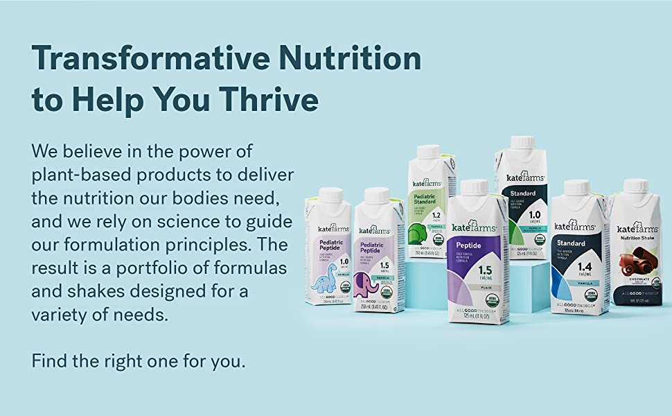 About Kate Farms Plant-Based Tube Feeding Formulas and Shakes
