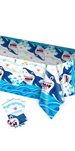 shark tablecloth