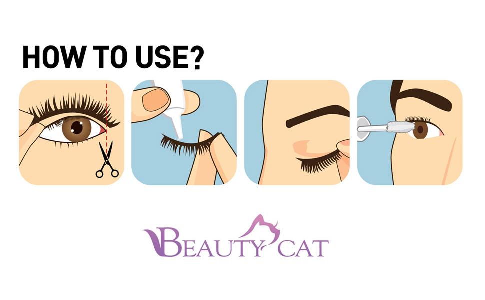 How to use 3D Eyelashes ?