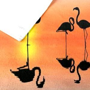 flamingo beach towel details
