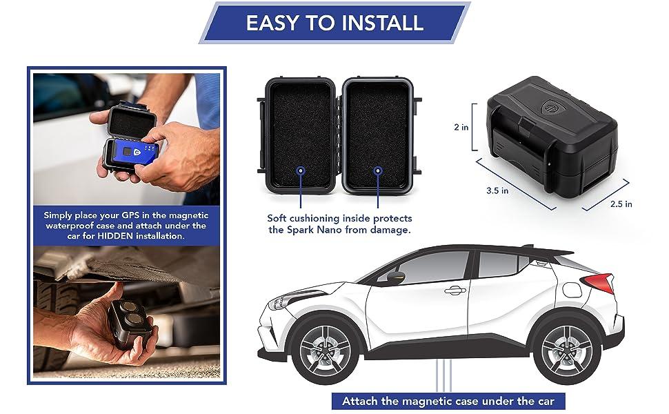 waterproof, case, weatherproof, magnetic, spark nano, GL300, car, truck, van, assets, protection