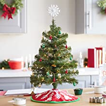 miniature tree mini ornaments tabletop christmas tree