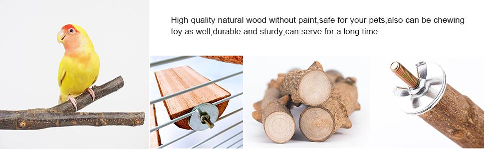 High quality natural wood without paint