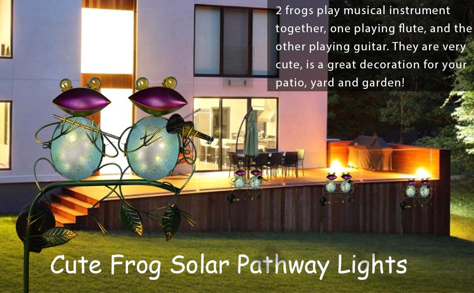 DREAMSOUL Solar Frog Garden Lights Outdoor Decorations