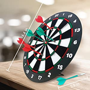 Safety dart board size and package included