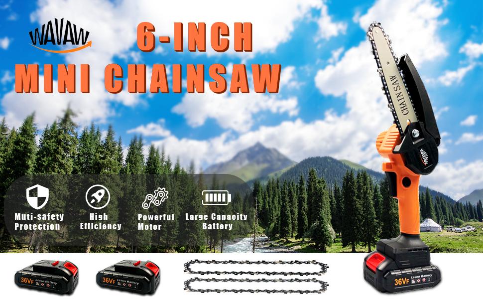 6 inch mini chainsaw