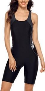 Women Boyleg Athletic Swimming Costume