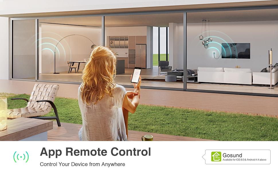 samrt outlet control by app