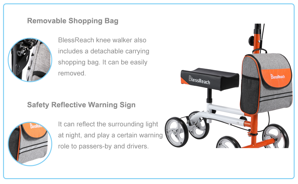 With front bag and safety reflective strip