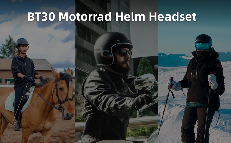 Motorrad Helm Headset