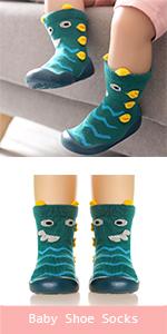 Baby Boys Girls Toddlers Moccasins Non-Skid Indoor Kids Floor Slipper Childrens Animals Shoes Socks