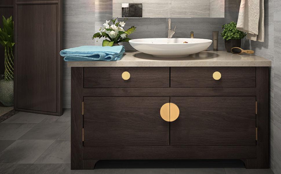 Solid Brass Cabinet Handles Drawer Pulls