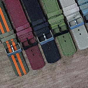 Ballistic Nylon Two-Piece Military Style Straps