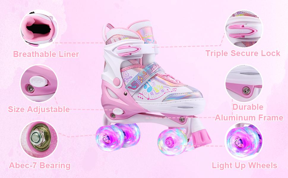 light up skates for girls