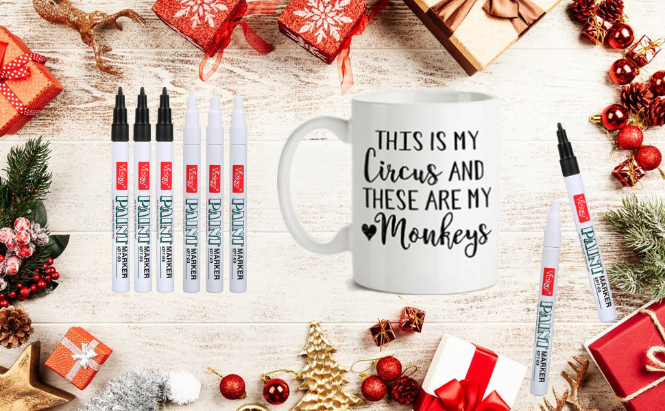6 pack fine tip paint pens