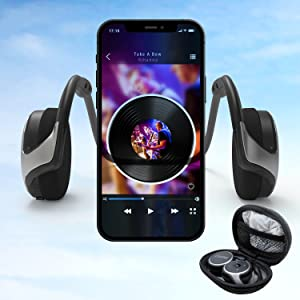 behind head bluetooth headphones