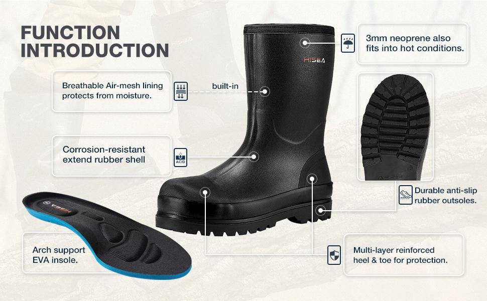 men rain boots