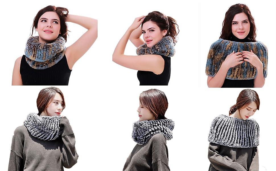 fur shawl scarf