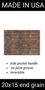 End Grain walnut cutting board butcher block