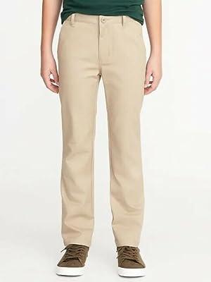 A boy wears a pair of pants