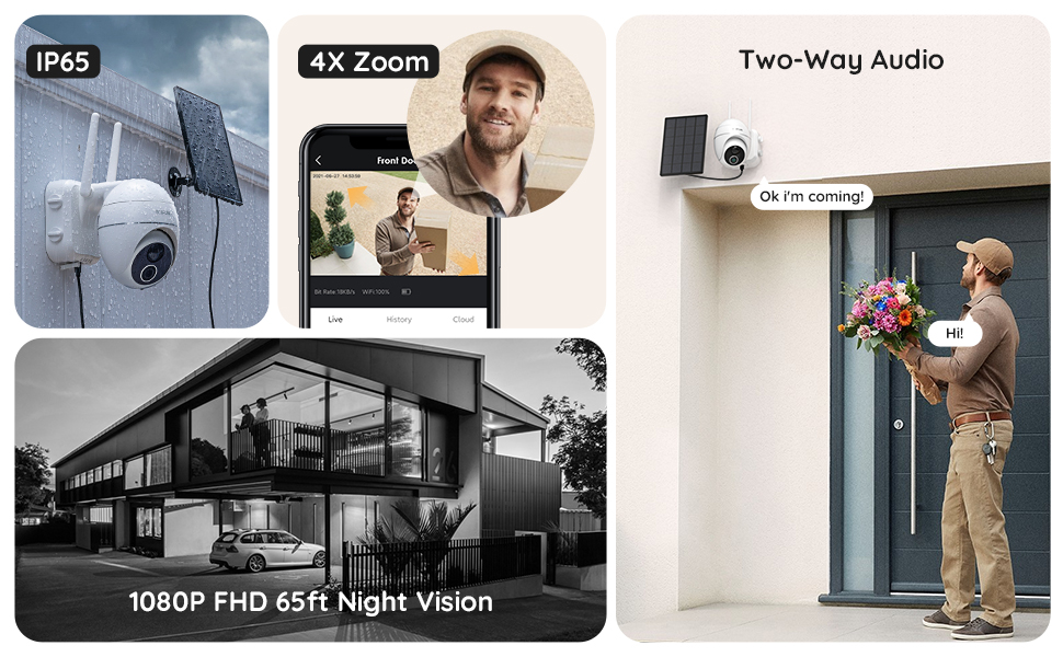 wireless solar security cameras with sd card