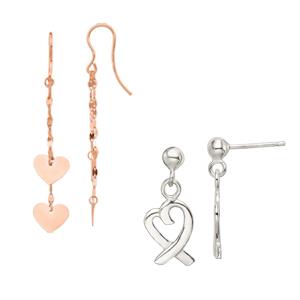 Drop amp; Dangle Heart Earrings
