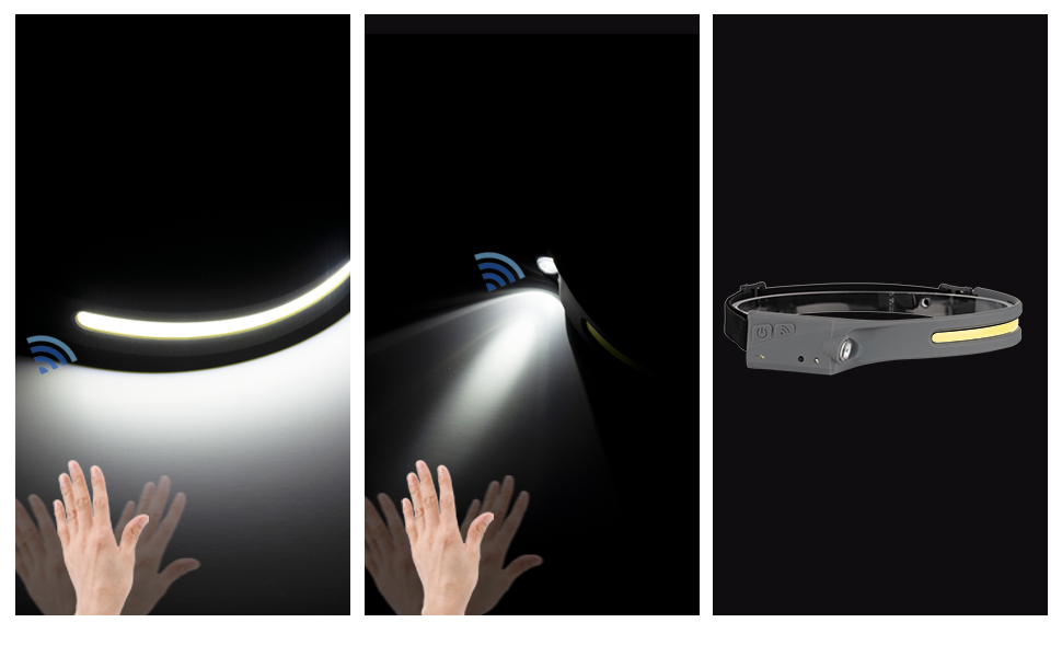 motion sensor headlamp