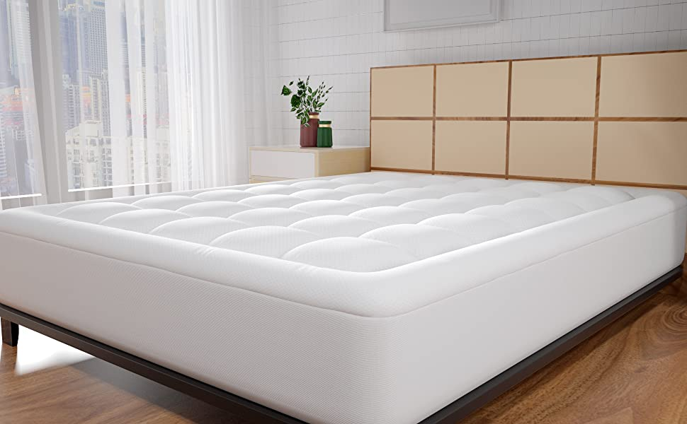 waterproof mattress pad topper cover futon padding thick protector queen cal king twin xl full xl