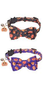 2 Pack Halloween Cat Collars