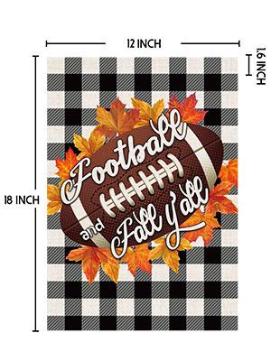Football Fall Garden Flags