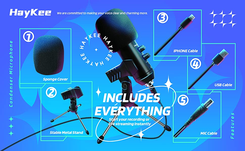 INCLUDES EVERYTHING. Start your recording or live streaming instantly.