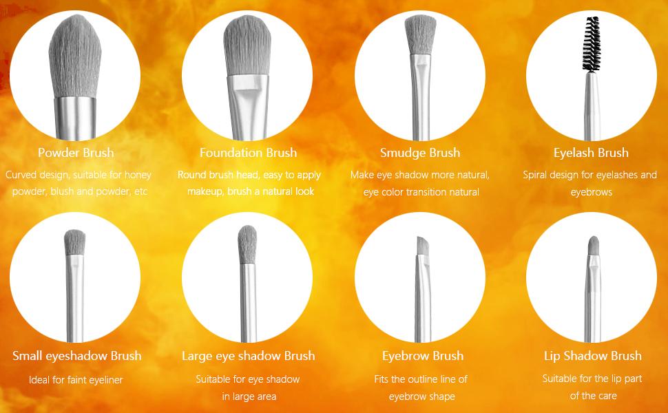 Lip Shadow Brush,Eyebrow Brush,eye shadow Brush