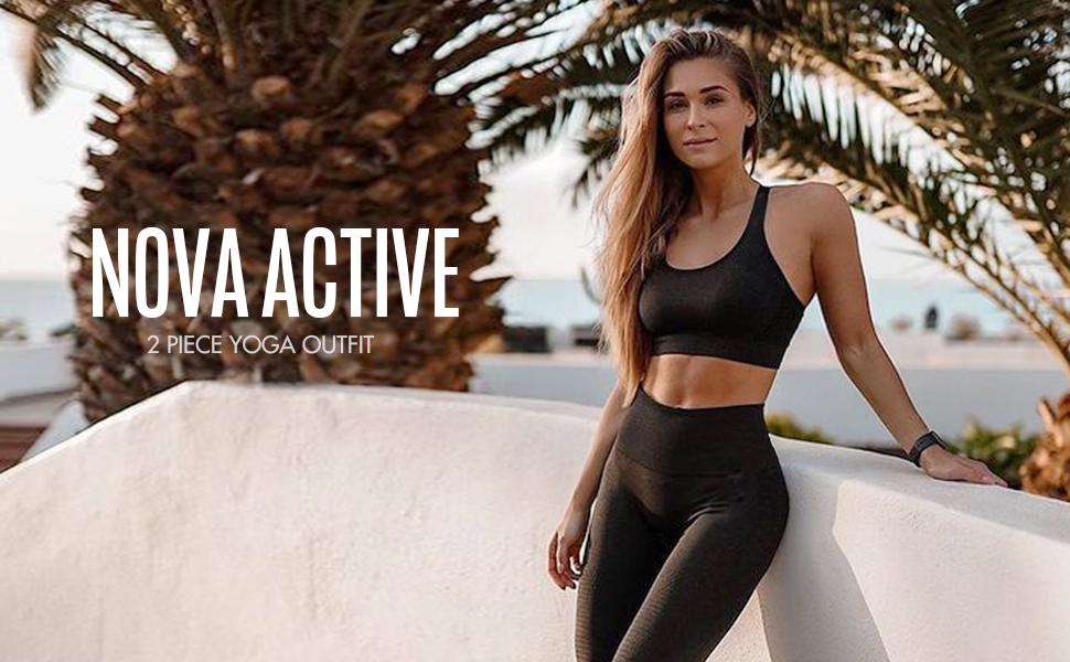 NOVA ACTIVE 2 PIECE YOGA OUTFIT