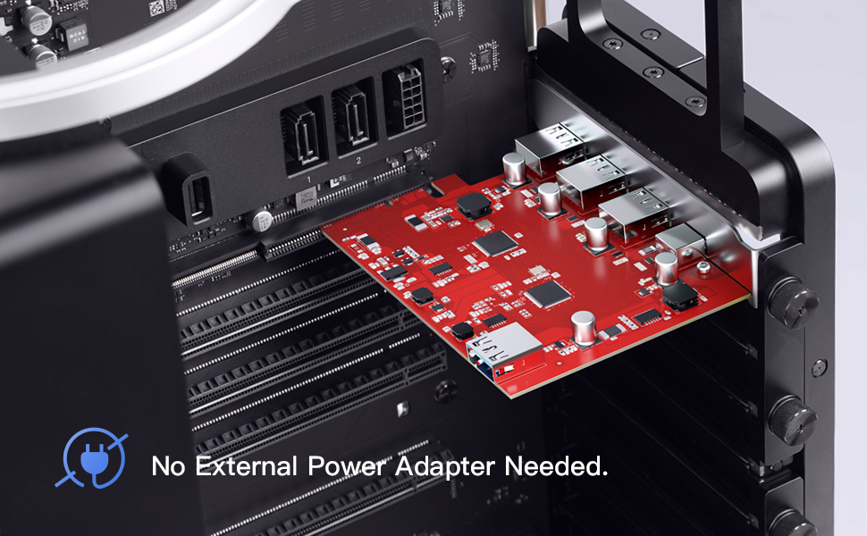 PCIe type c port card