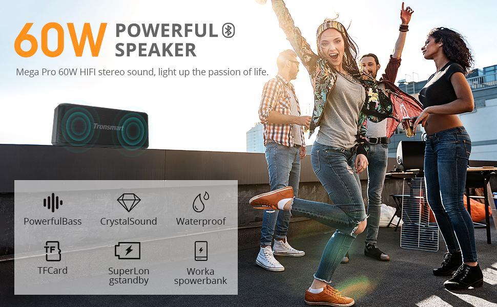 Tronsmart Mega Pro 60w Powerful Speaker