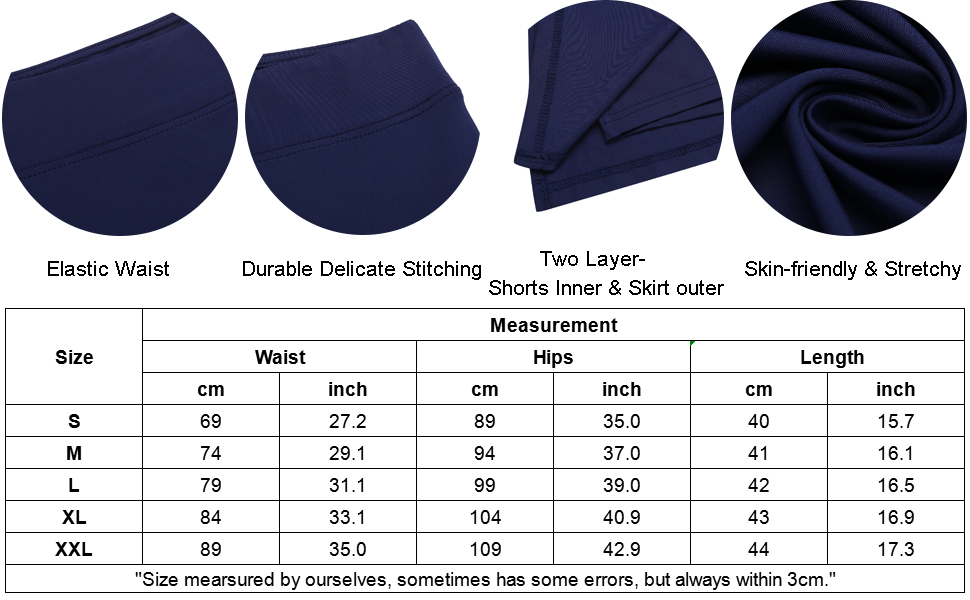 Onbay Women's Quick Dry High Waisted Golf Skirt A Line Sport Athletic Tennis Skort with Shorts