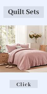 pink purple quilt set king
