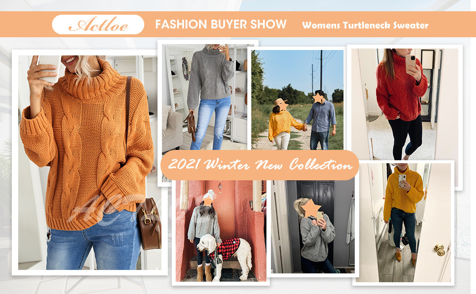 Actloe Sweaters for Women Casual